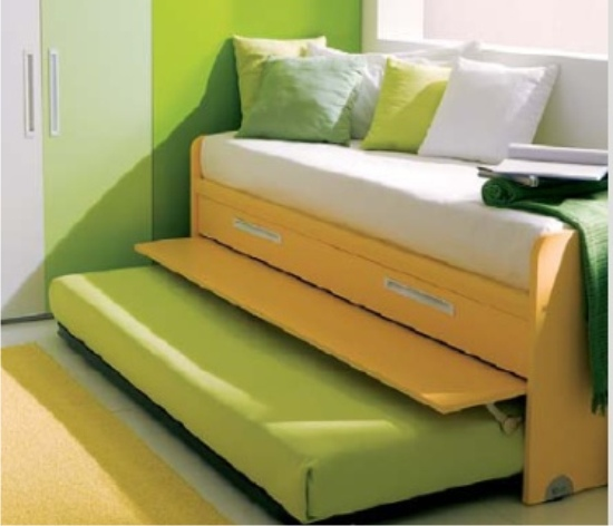 Letto arkimede con 6 cassetti cassettoni o letto estraibile - Letto con letto estraibile ...