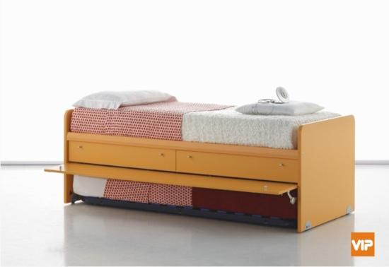 Letto arkimede con 6 cassetti cassettoni o letto estraibile - Letto singolo estraibile mondo convenienza ...