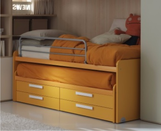 Letto Con Cassettiera : Letti con cassetti laterali elegant letto con cassetti laterali