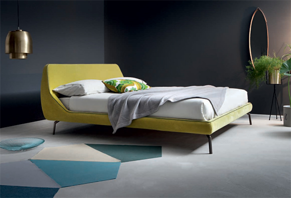 Letto matrimoniale moderno di design aston for Letto a soffitto matrimoniale design