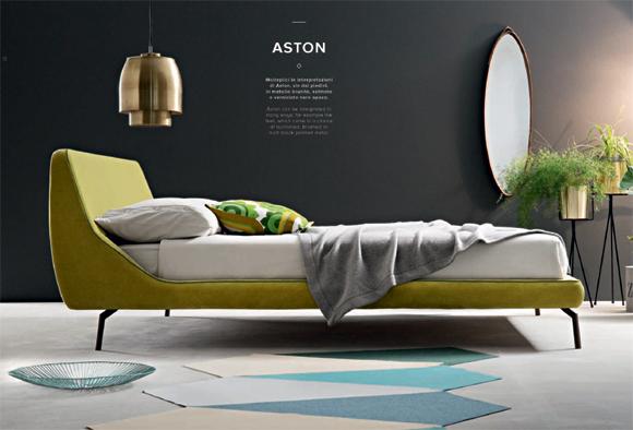 Letto matrimoniale moderno di design aston for Letto design offerta