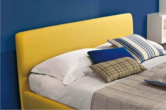 Letto Ecopelle Giallo : Letto in tessuto benny semplice e minimal