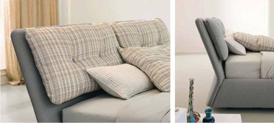 Bogart letti imbottiti moderni e di design for Cuscini imbottiti per testiera letto