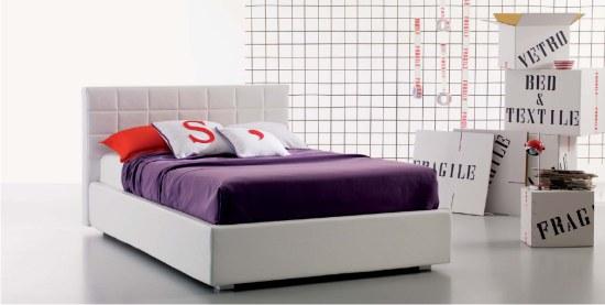 letto imbottito 1 piazza e mezza benny. nella foto letto ...