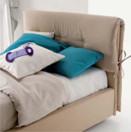 Dielle letto imbottito con testiera a cuscini - Cuscini imbottiti per testiera letto ...