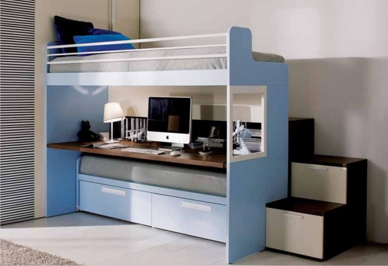Letto a castello merlino con scrivania sotto for Ikea letto ribaltabile