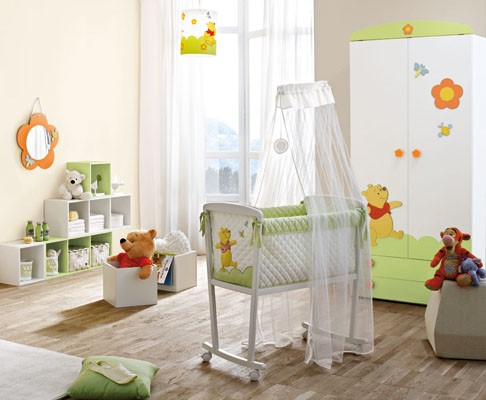 Culla per neonati winnie the pooh doimo - Arredare camera neonato ...