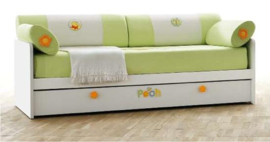 ... letto singolo, protezione letto rivestita in tessuto bianco