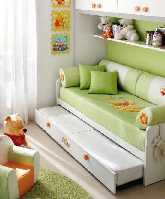 Letto a divano di winnie the pooh per cameretta - Accessori camerette bambini ...