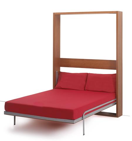 Letto a scomparsa con ribalta verticale for Fabriquer un lit escamotable