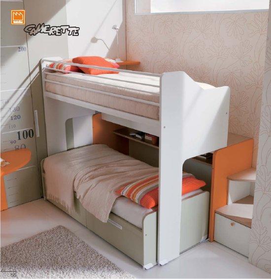 Genius, il letto a castello scorrevole di Dielle gruppo Doimo