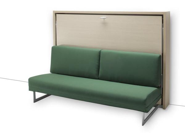 Mobile letto a scomparsa Houdini con divano