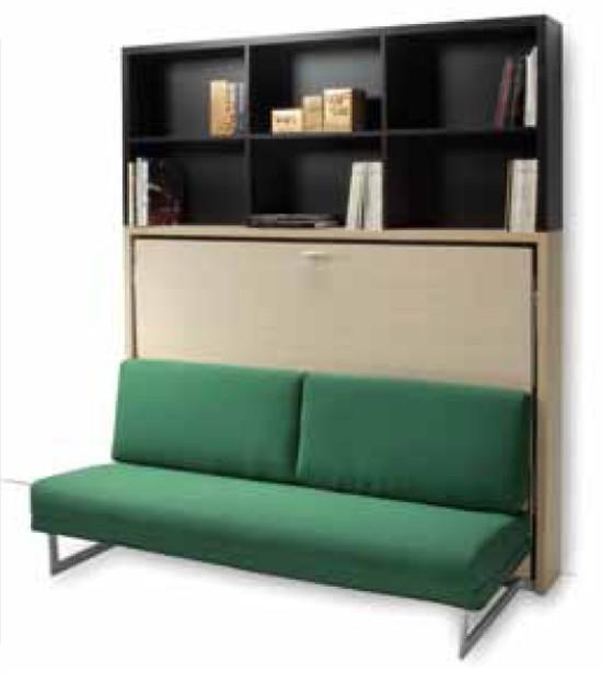 Mobile letto a scomparsa houdini con divano for Letto a scomparsa con divano