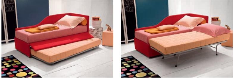 Letto imbottito joy venice divano con contentitore - Letto una piazza e mezza bambini ...