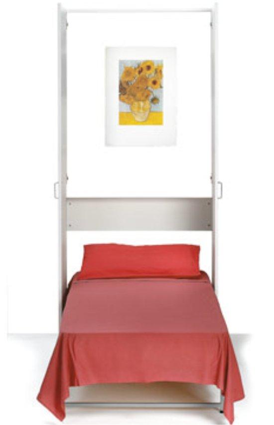 Armadio letto lear singolo a doghe scomparsa verticale - Mobile letto singolo ikea ...