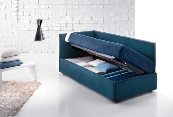Letto imbottito Sirio. 11 modelli, dal sommier al divano.