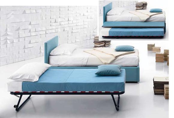 Letto imbottito sirio 11 modelli dal sommier al divano for Letto con letto estraibile