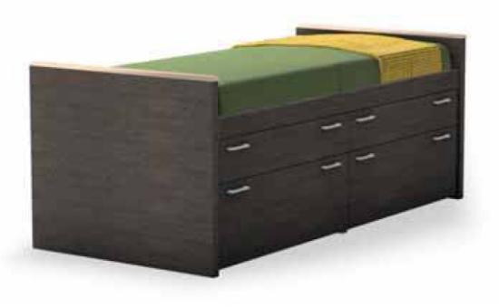 Letti attrezzati con cassetti e cassettoni: Doimo Line