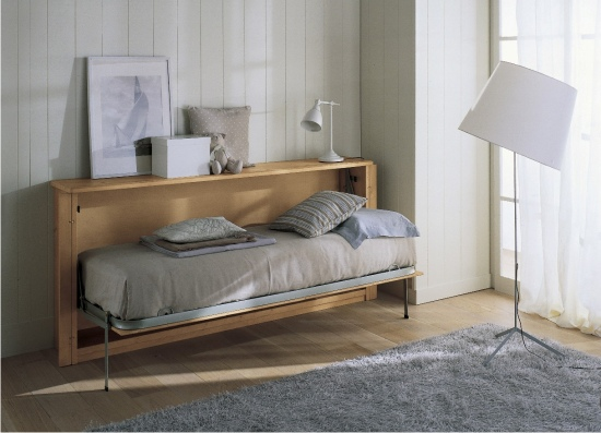 Letto a scomparsa massello in vero legno - Mobili letto scomparsa ikea ...