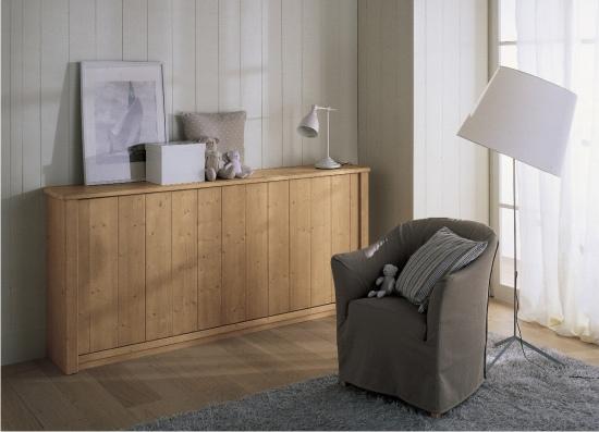 Letto a scomparsa massello in vero legno for Ikea letto ribaltabile