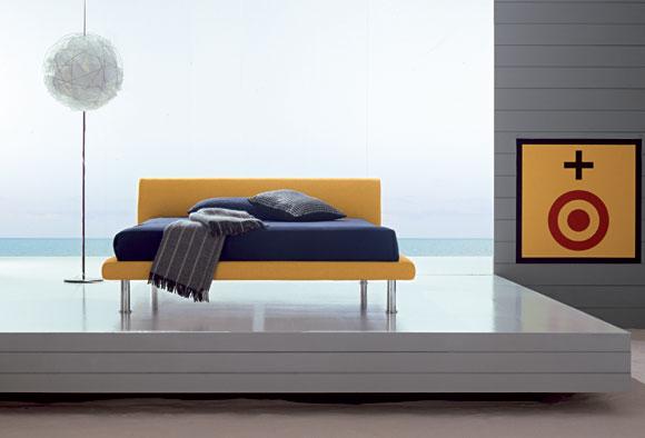 Letto imbottito moderno meta dal singolo al matrimoniale for Design moderno del letto