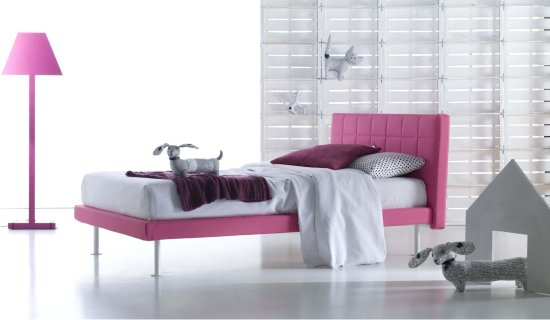 Letto tessile montreal alice for Letti outlet design