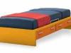 letto panca attrezzato con cassetti