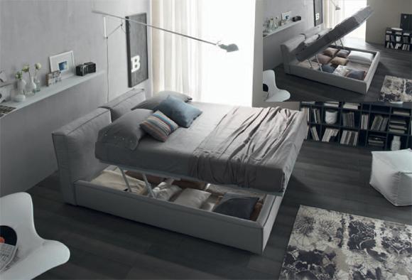 Tribeca letto matrimoniale imbottito ennerev - Arredare camera da letto moderna ...