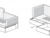apertura cassettoni del letto