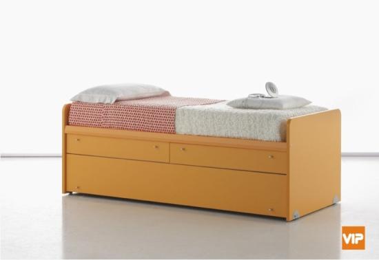 Letto Arkimede con 6 cassetti, cassettoni o letto estraibile