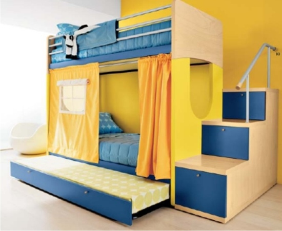 Letto a castello giotto doimo cityline for Ikea corrimano scale