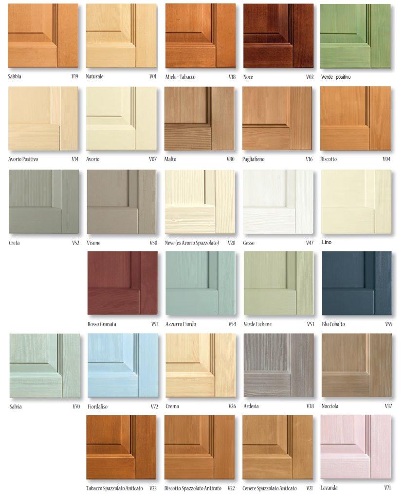 Colori e finiture dei letti in legno massello di scandola - Colori mobili legno ...