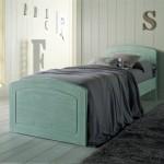 letto singolo in legno da scandola mobili