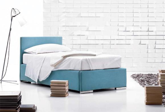 sirio letto in tessuto