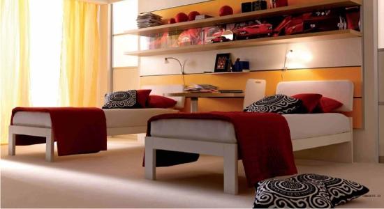 Letto doimo felix per camerette e camere da letto - Divano letto con due letti singoli ...