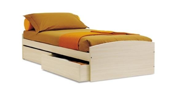 letto con cassettoni tiramolla di tumidei