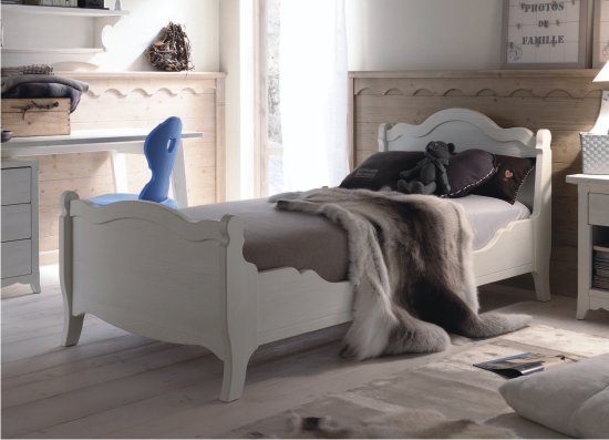 Letto in stile country