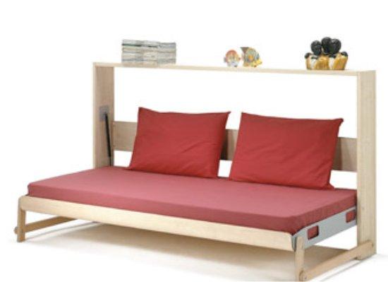 Mobili letto letto leo singolo con ribalta orizzontale - Altezza quadri sopra divano ...