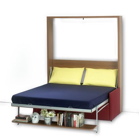 Mobile letto Dile matrimoniale con divano e mensola libreria