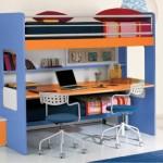 Castello Happy con scrivania e letto estraibile