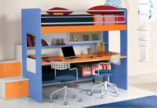 Castello happy con scrivania sotto - Letto con scrivania estraibile ...