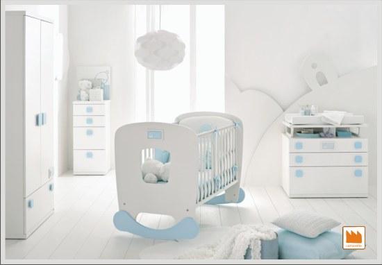 Lettino nuvola con dondolo removibile bebè a bordo