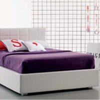 alice: un letto imbottito bianco