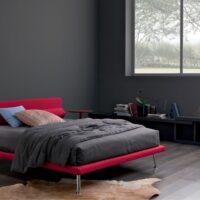 letto rosso minimale Aspen