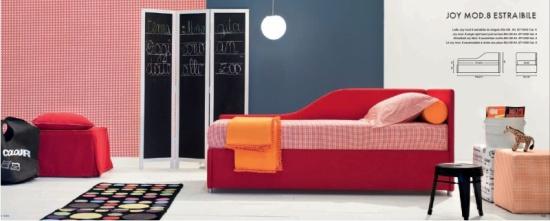 letto a divano imbottito joy