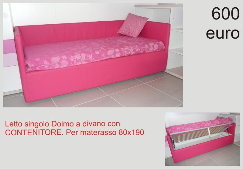 Offerta: Letto a divano in ecopelle con contenitore Doimo