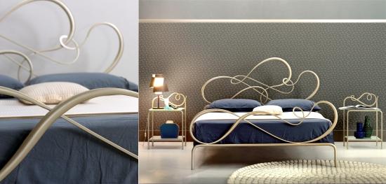 dettagli del letto in ferro