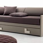 letto divano Line con rete estraibile