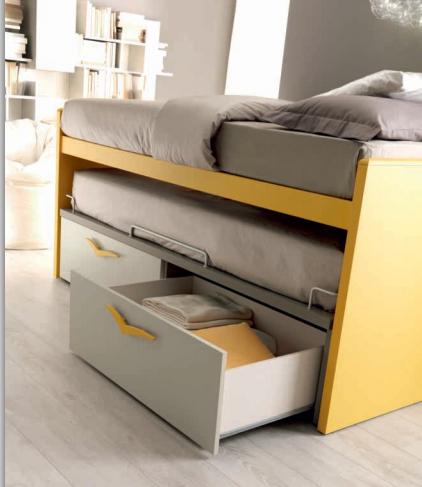 ampio cassettone del letto attrezzato scorrevole Doimo