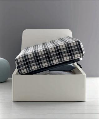 Round letto singolo contenitore